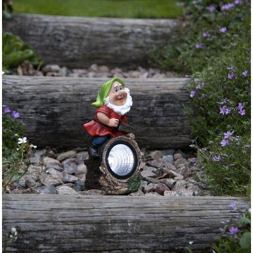 LED Solar Gartenzwerg GNOMY - Spot mit weißer LED - H: 21cm - Dämmerungssensor