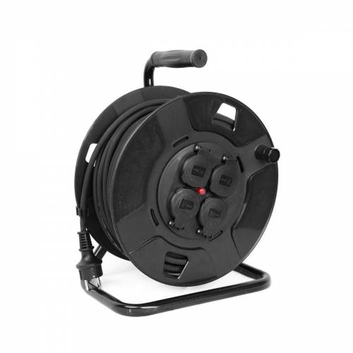 Kabeltrommel outdoor IP44 - 25m - 3 x 1,5mm - 4 Abgänge