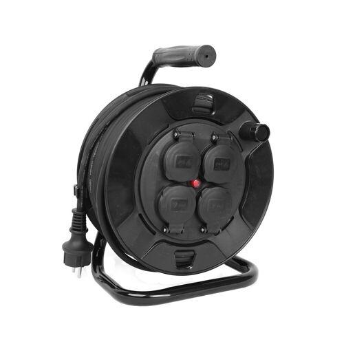 Kabeltrommel outdoor IP44 - 50m - 3 x 1,5mm - 4 Abgänge