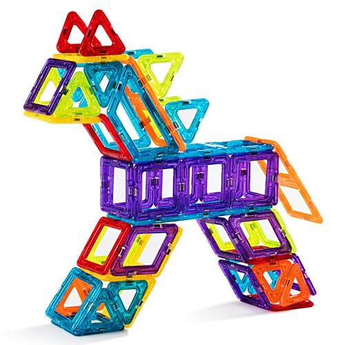 Costway 106 Teile Magnetische Bausteine Kleinkinder Magnetspielzeug Bauklötze