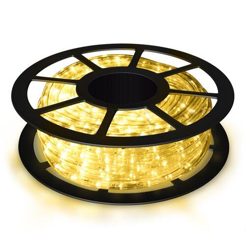 Costway Weihnachtsbeleuchtung 10 M Lichterschlauch Lichterkette für Außen und Innen mit 360 LEDs