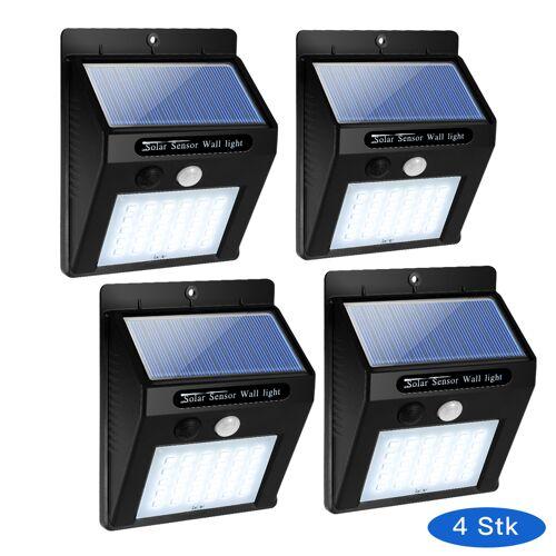 Costway 4 Solarleuchte 30 LED Solarlampe Wasserdichte Solarlicht mit Bewegungsmelder
