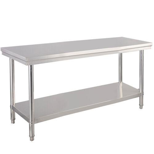 Costway Edelstahl Küchentisch Arbeitstisch Gastro Tisch Edelstahltisch 122x61x90cm