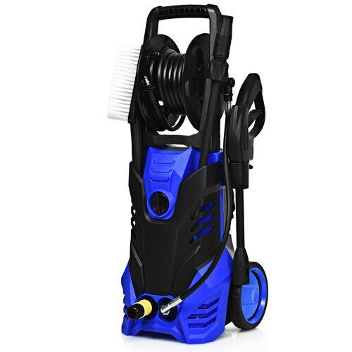 Costway Hochdruckreiniger mit Hochdruckdüse & Zubehör ideal für Garten und Haus 140 Bar 6 L/Min 2000W Blau