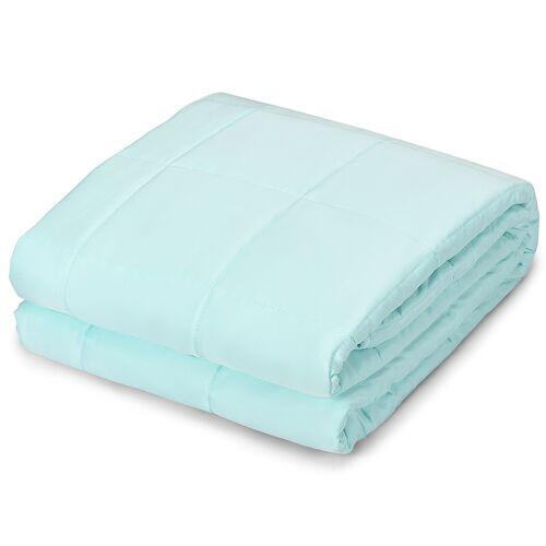 Costway Gewichtsdecke Kühl Schwere Decke Beschwerte Decke aus Baumwolle Grün