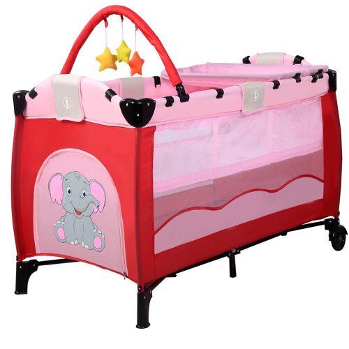 Costway Kinderreisebett Babybett Wiege Inkl. Matratze und Zubehör