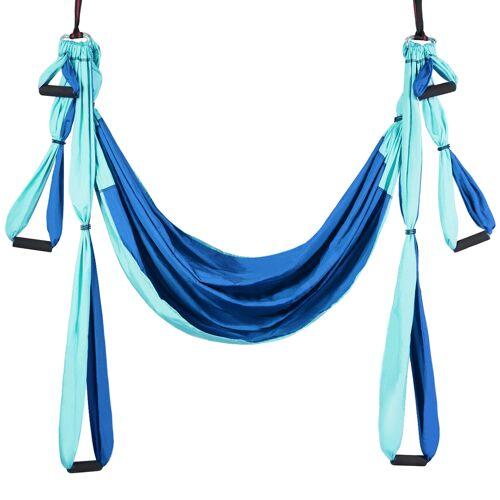 Costway Aerial Yoga Hängematte Set Yoga Schaukel Air Fliegen Hängematte Rosa/Blau/Lila