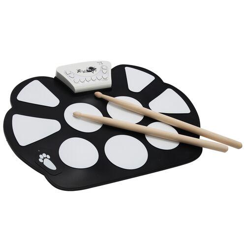 Costway 10 Pad elektronisch Trommel E-Drum Elektronik Drum Instrument Schlagzeug Faltbar