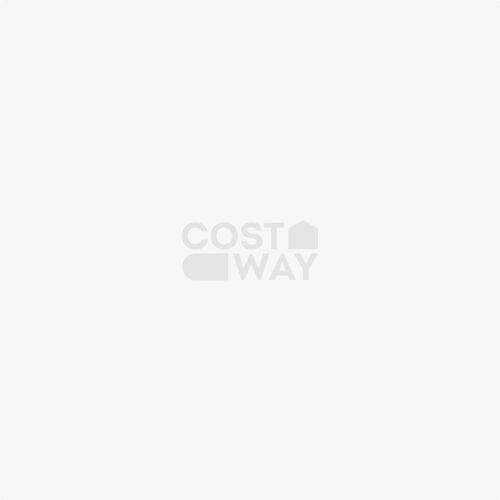 Costway Tischtennisplatte Klappbares Tischtennistisch inkl Schläger, Bälle und Netz Blau 152.4 x 76.2 x 76.2 cm