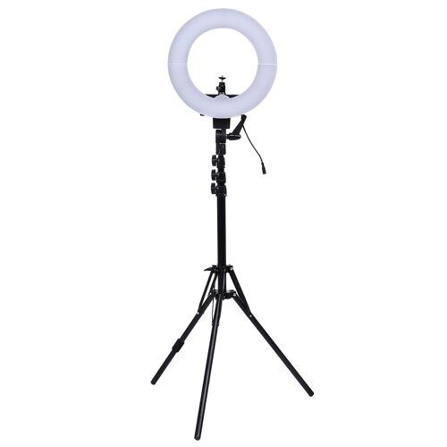 "Costway 12"" LED dimmbar Ringleuchte Ringlicht Ringlampe für Produktfotografie Tageslicht 240LEDs flexibler"