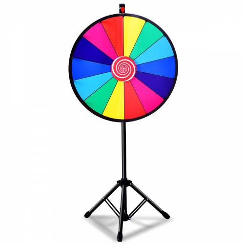 Costway φ 60 cm Glücksrad Farbe Rad Lotteriespiele