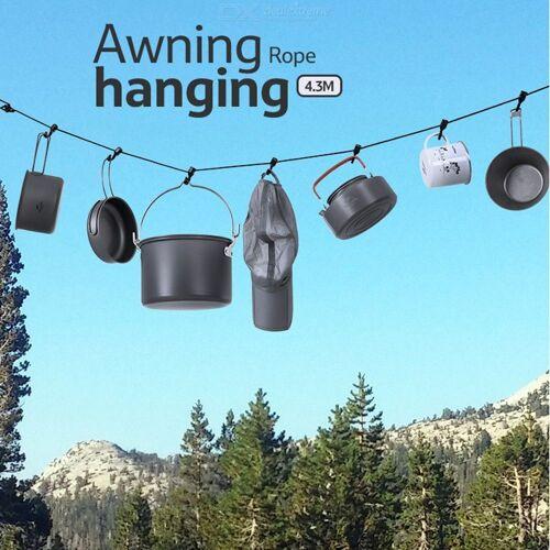 Outdoor-Mehrzweck-Camping Lanyard Verstellbare Markise Hängendes Seil