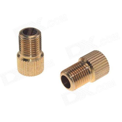 Presta Ventil Schrader Ventil Adapter Wandler - Golden (2 Stück)