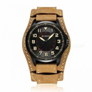 CURREN 8279 Stilvolle PU Lederband Wasserdicht Quarz Armbanduhr
