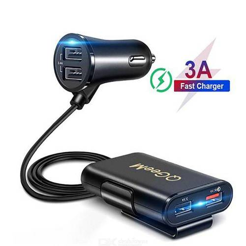 QGEEM 4 USB QC 3.0 Car Charger Quick Charge 3.0 Car Phone Charger Adapter for iPhone iPad Xiaomi Samsung HTC Sony Huawei