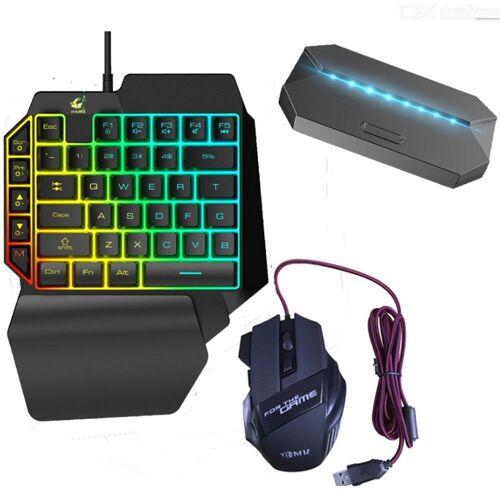 G6-Gaming-Tastatur Und Maus Combo USB-Hub 3-in-1-Spiel-Tastatur Mäuse Daten-Hub
