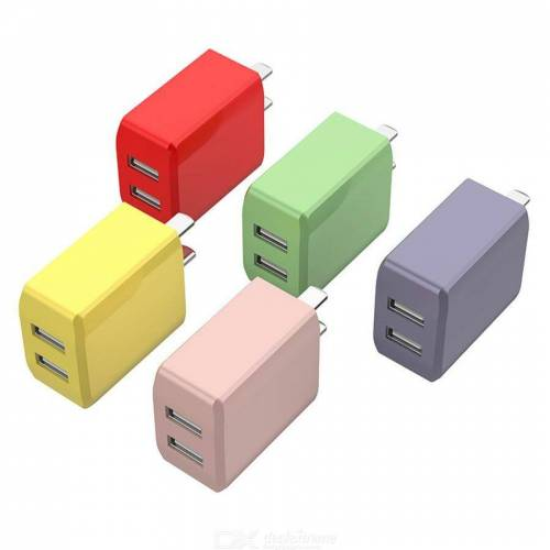 Colorful Quick Charge 5V USB Wall Charger Double Port Quick Phone 2A Charger