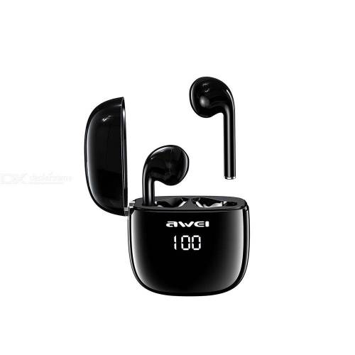 AWEI T28P TWS Wireless Earbues Bluetooth 5.0 Wireless Earphones With Stereo Sound And LED Display