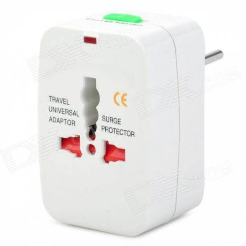 Universal-Steckdosen-Reiseadapter mit EU / UK / US / AU Steckern - weiß (AC 100 ~ 250V)