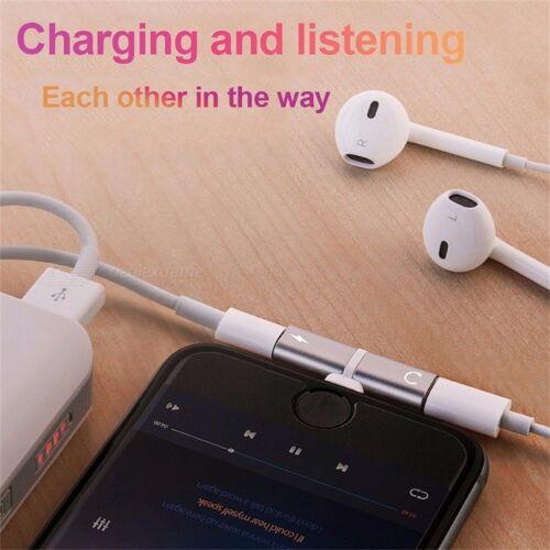 Lade Musik Adapter Konverter Kopfhörer Kopfhörer Splitter 2 In 1 Lade Blitzadapter Für IPHONE 7 8 X