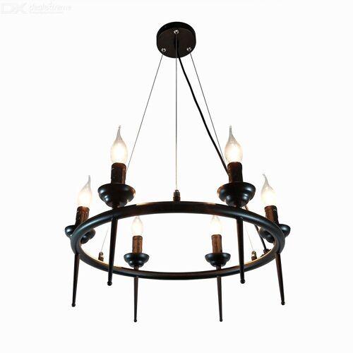 Moderner Vintage-Stil E26 6-Kopf Eisen Kronleuchter Decke Hängende Lampe Für Wohnzimmer Café Bar