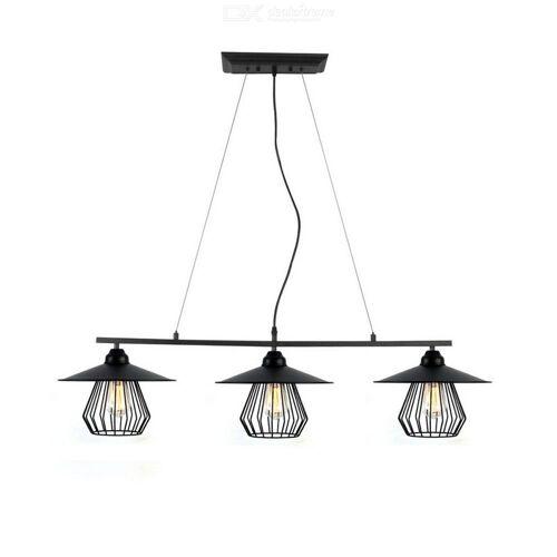 Moderner Retro-Stil E26 3-Kopf Eisen Kronleuchter Decke Hängende Lampe Für Esszimmer, Wohnzimmer, Café-Bar