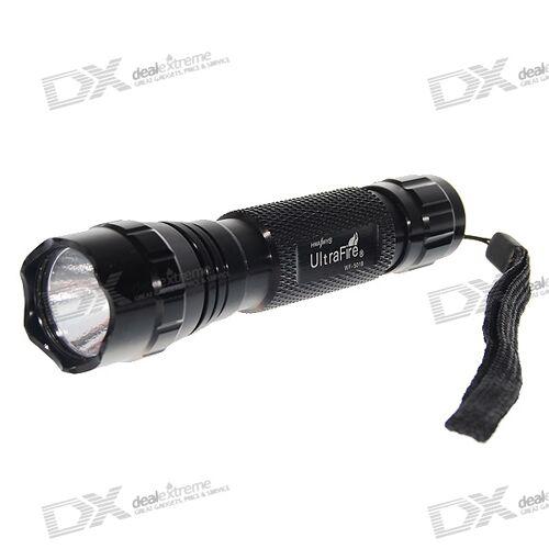 Ultrafire WF-501B 3W UV 395 ~ 400nm LED-Taschenlampe (1 * 18650/2 * Cr123a)