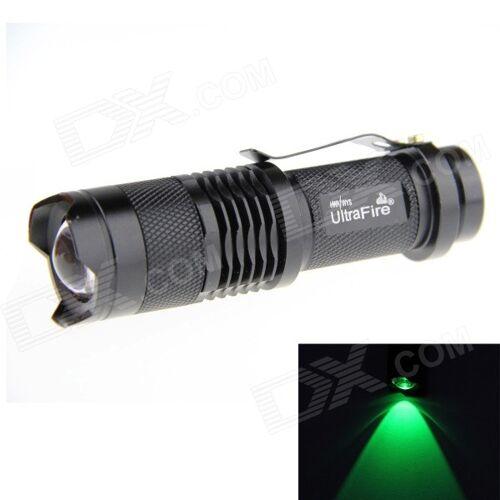 Ultrafire SK68 LED XP-E Q5 Grün 100lm 3-fach Zoomende Taschenlampe