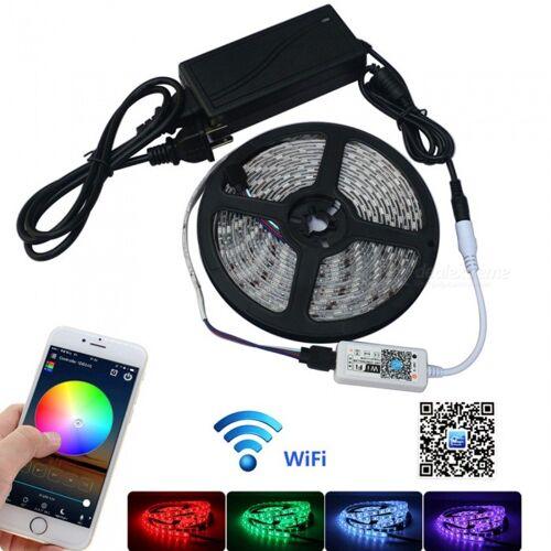 JIAWEN 5m Wasserdichtes IP65-Smart-Home-WLAN-RGB-LED-Lichtleisten-Kit