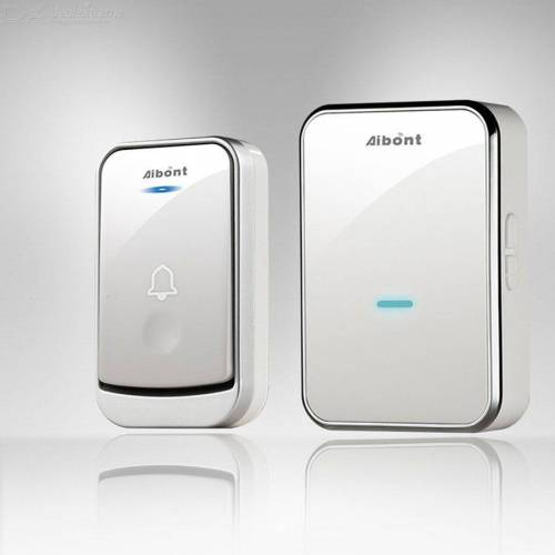 Wireless Doorbell Waterproof Door Chime Kit With 4 Levels Volume 45 Chimes For Home Office