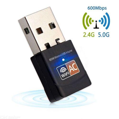 ESAMACT mini 600mbp USB wifi dongle adapter, dual band USB drahtlose netzwerk lan-karte für PC desktop laptop tablet 802.11a / g / n / ac