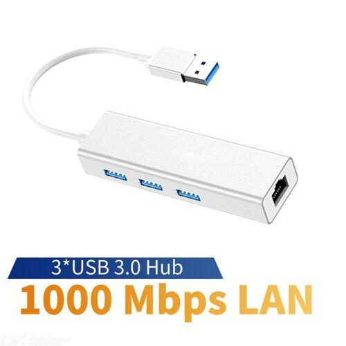 USB 3.0 RJ45 1000 Mbps Netzwerkkarte Expansion, 3-Port USB 3.0 HUB USB Kabel-Netzwerkkarte