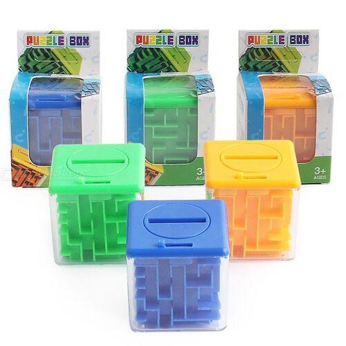 3D-Neuheit Geld Labyrinth Puzzle-Box Herausfordernd Gehirn Spiel Spielzeug Intelligenz Spielzeug Für Kinder
