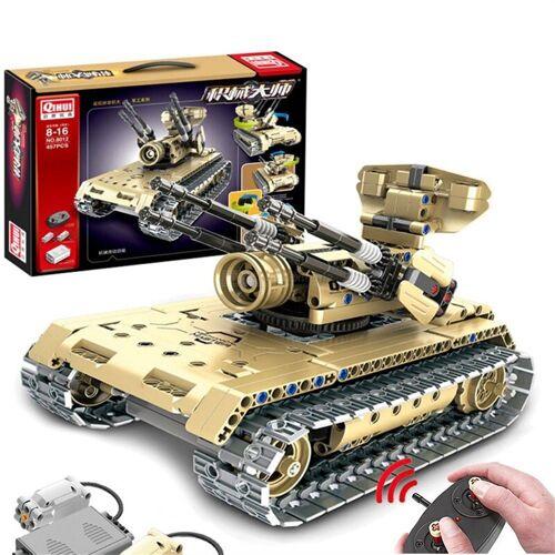 RC Tank DIY Fernbedienung Militärisches Auto Baustein Spielzeug Für Kinder