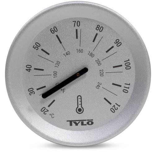 Tylö Thermometer Brilliant Silver Grey
