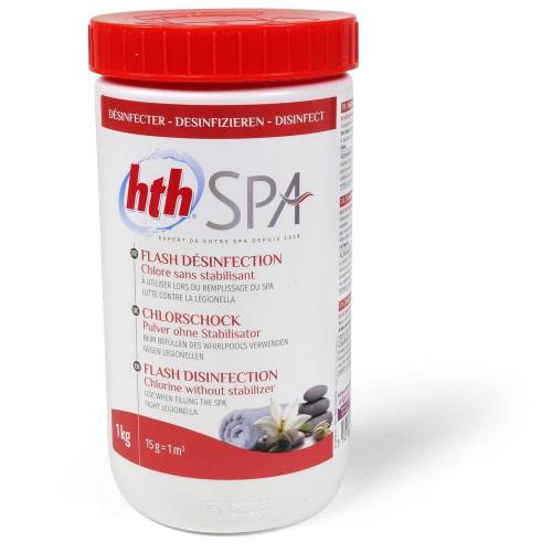 hth SPA Chlor Shock Pulver 1,0 kg