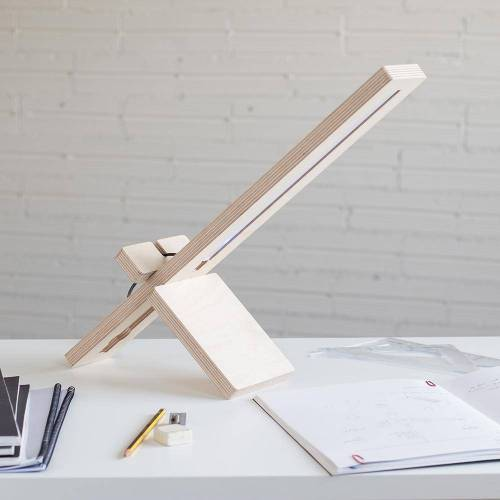 DEBOSC Tischlampe aus Holz, DELAMP
