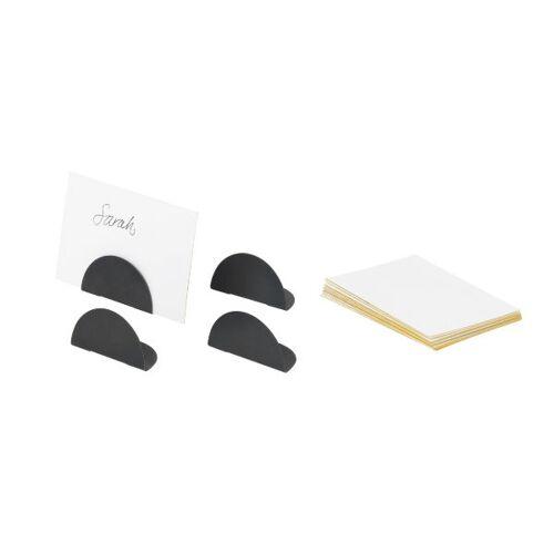 Kartenhalter - Set von 4 Black Brass