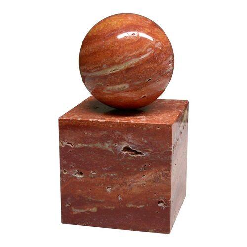 Stein des guten Glücks, Travertin rot