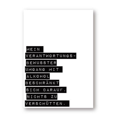 ART DIN A3 Typo-Print - Alkohol