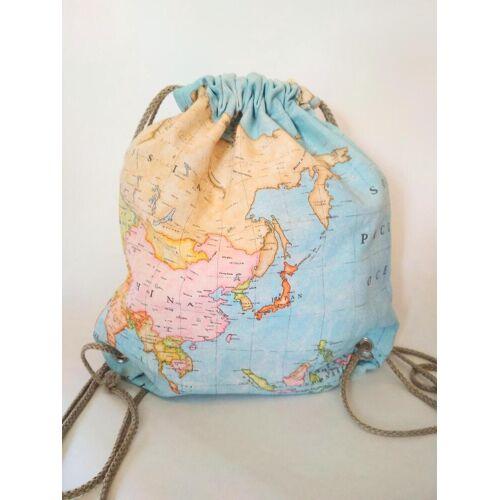 Stilwald personalisierter Rucksack, Turnbeutel mit deiner eigenen Weltkarte