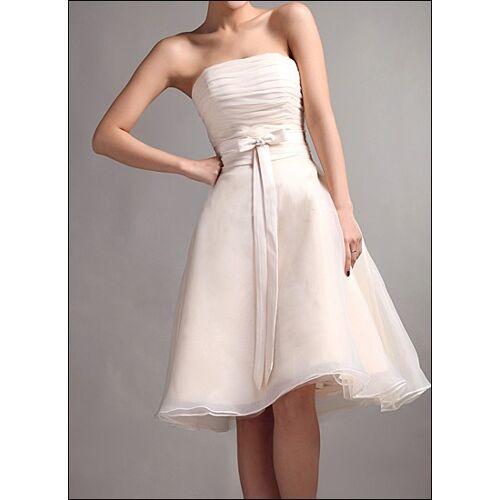 Lafanta Knielanges Brautkleid mit Raffung und Schleife