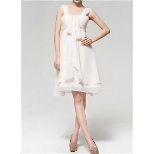 Lafanta Kurzes Chiffon Empire Brautkleid fürs Standesamt