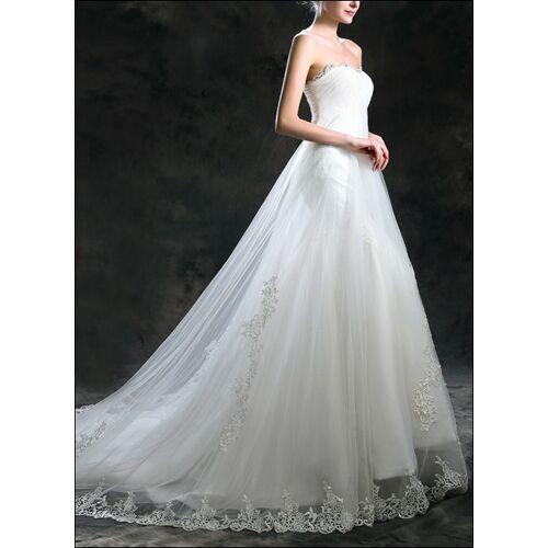 Lafanta Empire Brautkleid mit Spitze und Schleppe