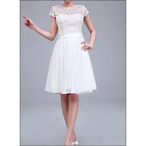 Lafanta Knielanges Brautkleid mit Spitzen-Ärmeln