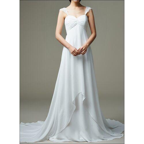 Lafanta Empire Brautkleid mit Träger und Wasserfall Rock