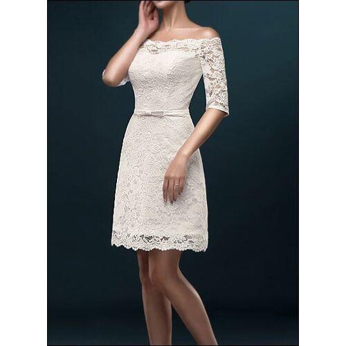 Lafanta Etui-Brautkleid für Standesamt mit Ärmeln
