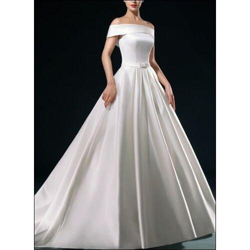 Lafanta Klassisches Brautkleid mit U-Boot Ausschnitt