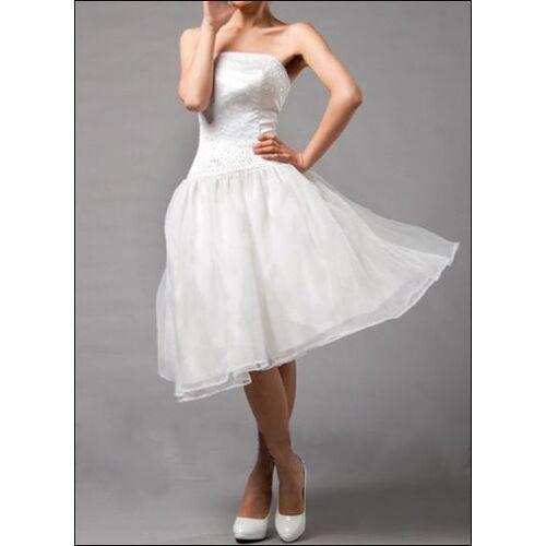 Lafanta Kurzes Brautkleid für das Standesamt mit Perlen