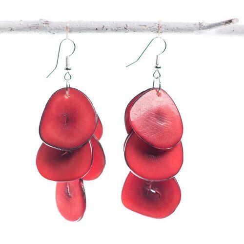 Bea Mely Tagua-Ohrring rot aus Ecuador